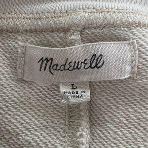 Madewell Tops - Madewell Natural Shuffle Crew Sweatshirt L GUC